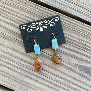 Jewelry - NWT Turquoise Stone Teardrop Earrings